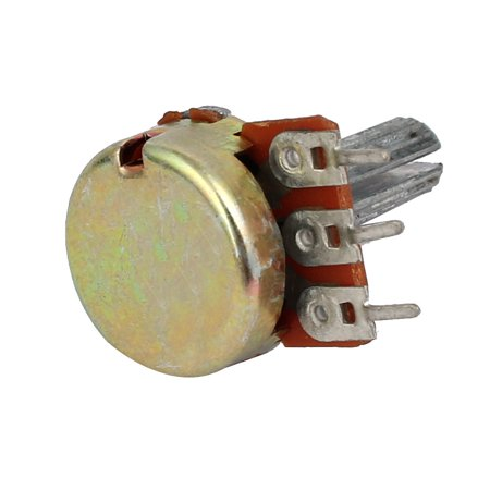 5 Pcs 500K ohm Adjustable Rotary Shaft Audio Taper Potentiometer Replacement - image 1 de 3