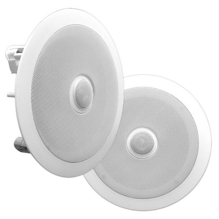 PYLE PDIC60 - In-Wall / In-Ceiling Dual 6.5-inch Speaker System, Directable Tweeter, 2-Way, Flush Mount,
