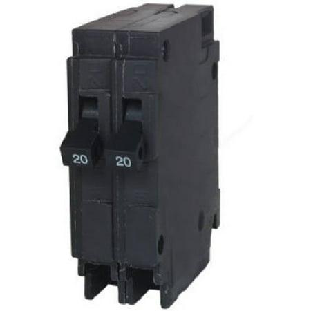 MURRAY MURMP2020 1P Twin Circuit Breaker 20A 120 240VAC