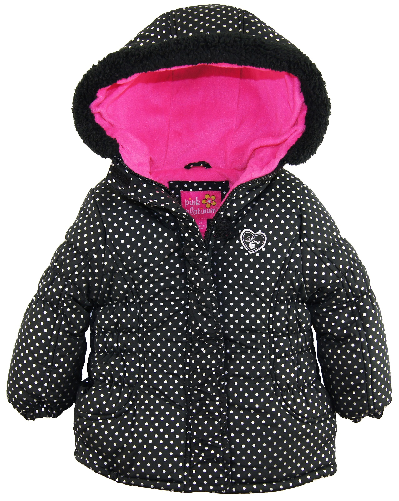warm piece girls itm puffer snowsuit winter platinum bunting pram pink one baby