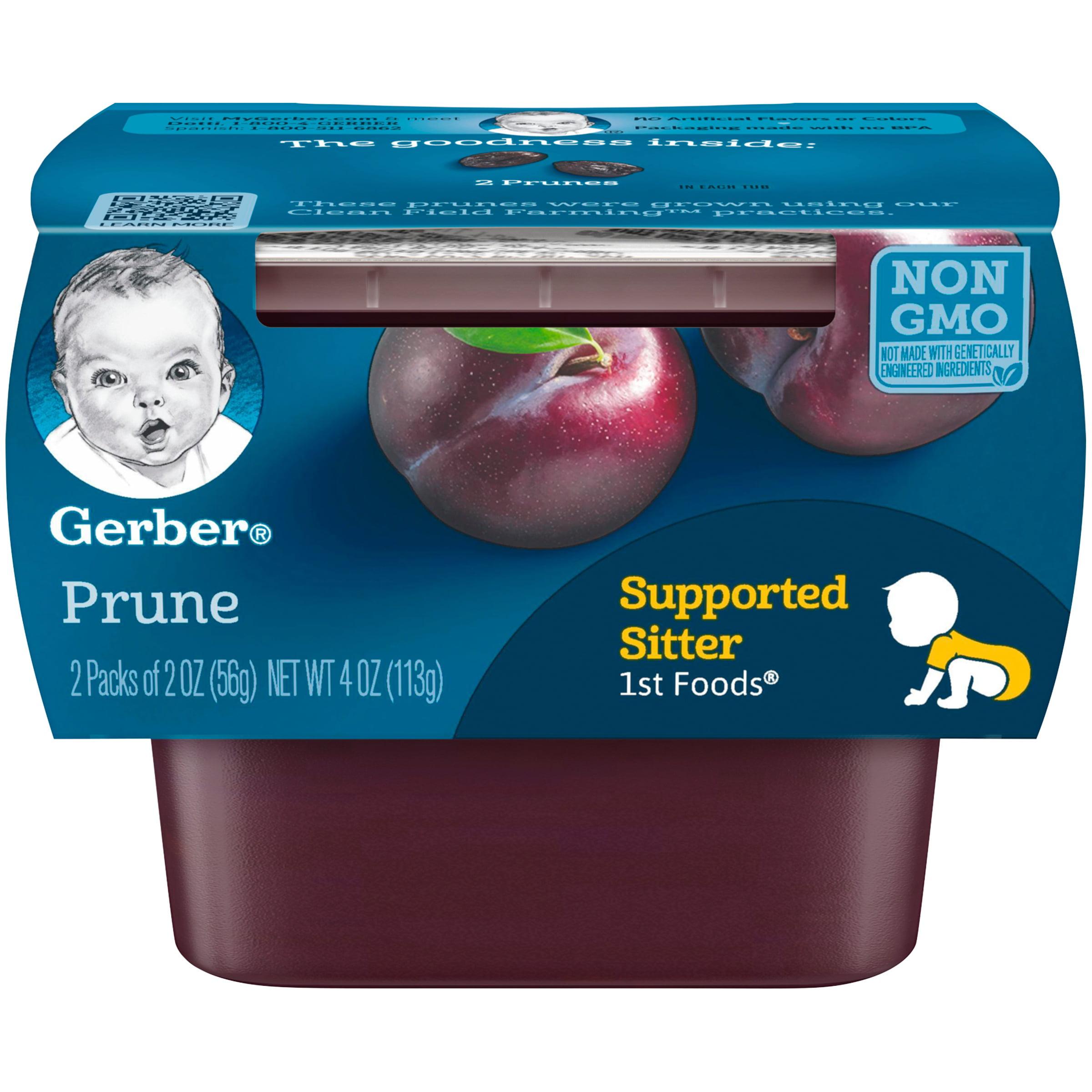 (8 Pack) Gerber 1st Foods Prune Baby Food, 4 oz. Sleeve
