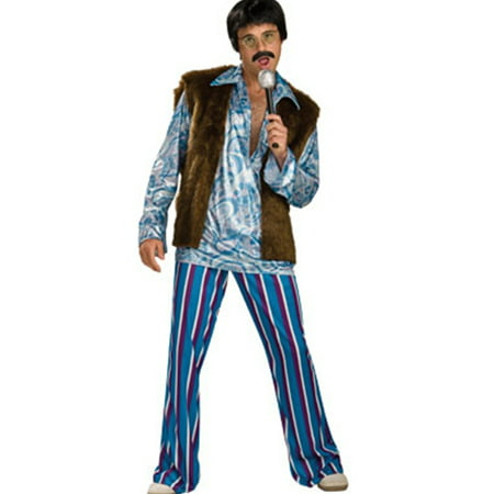 Men's 1-Size 44 70s Hippie Rockstar Guy Sonny Costume