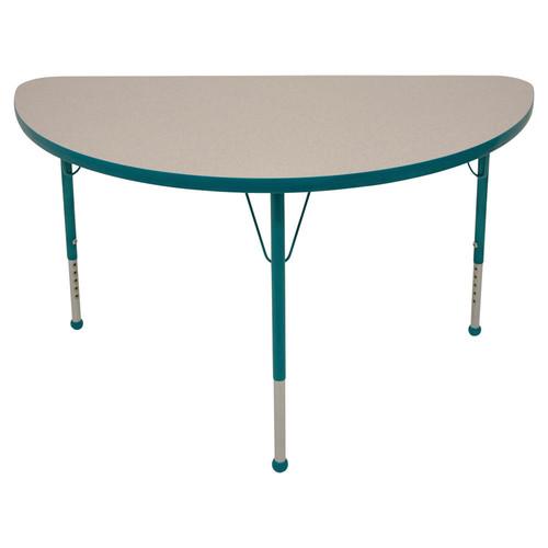 Mahar 48'' x 23.75'' Half Round Classroom Table