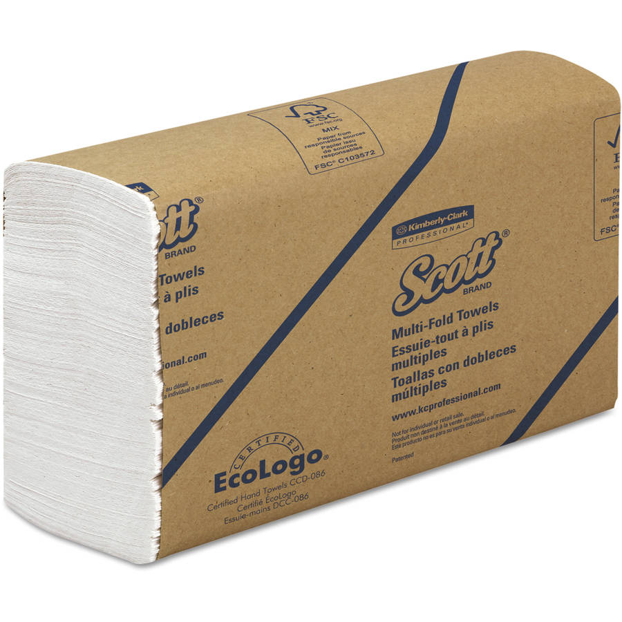 Kimberly-Clark Professional Scott Multifold White Paper Towels, 16 Packs of 250 sheets, 4000 Total