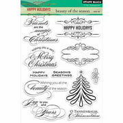 """Penny Black Clear Stamps 5""""X7.5"""" Sheet-Beauty of the Season"""