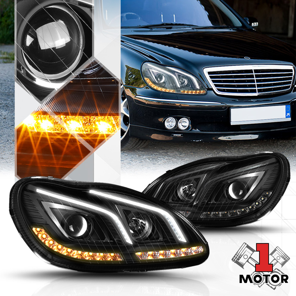 Mercedes W220 02~05 S-Class Custom Painting Type LED Side Mirror Cover S350 S500