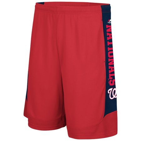 "Washington Nationals Majestic MLB ""Defiant Performance"" Synthetic Mens Shorts by"