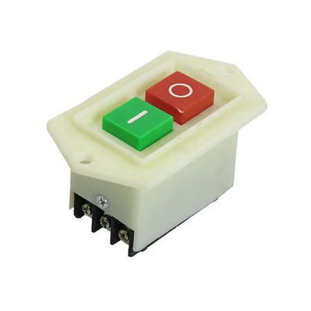 Industrial Start Stop Switch Locking Push Button Red Green AC 220/380V 10A I/O