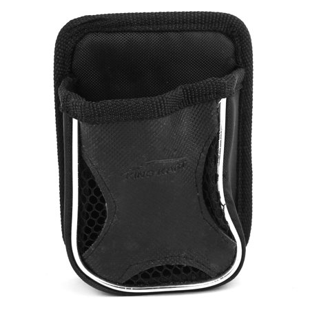 Car Air Vent Mount Black Nylon Mesh Style Phone Pocket Bag Pouch Holder w Hook