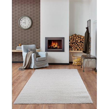"""Ladole Rugs Solid Color Shaggy Meknes Durable Beautiful Turkish Indoor Small Mat Doormat Rug in Ivory, 1'10"""" x 2'11"""" - image 3 of 4"""