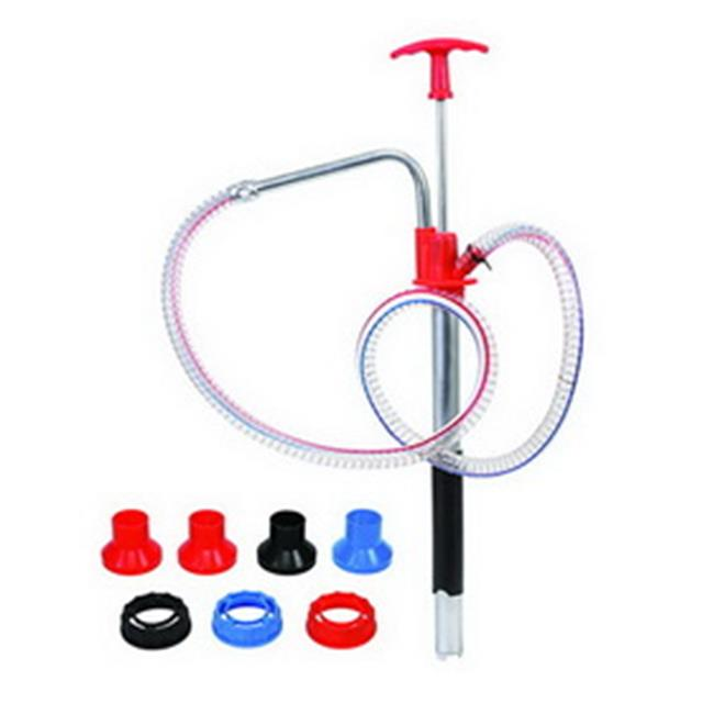 Zeeline 353 Plastic Hand Pump with Adapter for Pull-Up Spout Hose & Spout