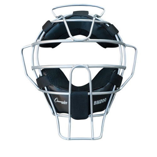 Champion Sports Umpire Face Mask Lightweight Silver by Champion Sports