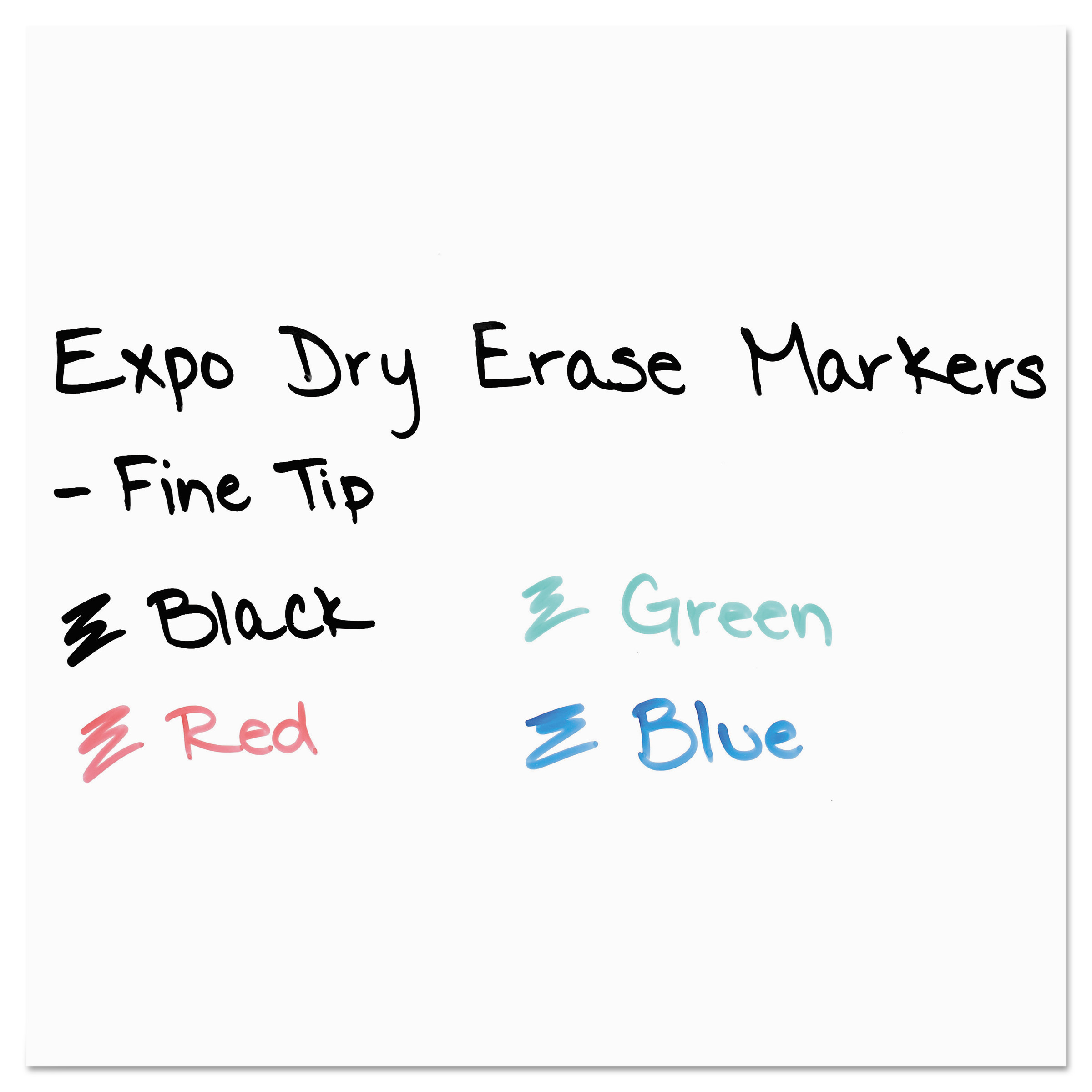 EXPO Dry Erase Markers with Plastic Pocket Sleeve, Fine Point, Assorted, 4/Set