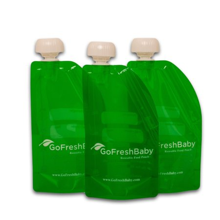 GoFreshBaby Reusable Refillable Recyclable Food Pouches 3 Pack - image 3 of 3