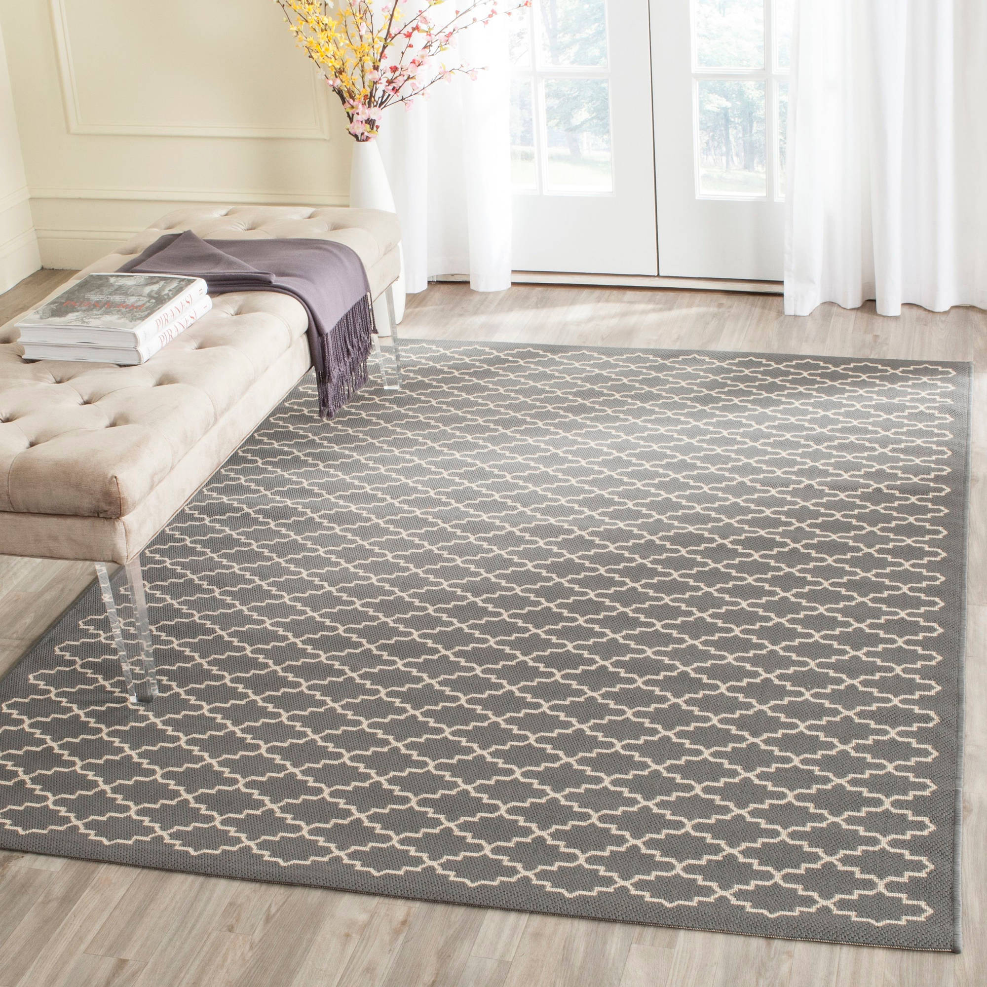Safavieh Courtyard Hilbert Power-Loomed Indoor/Outdoor Area Rug or Runner