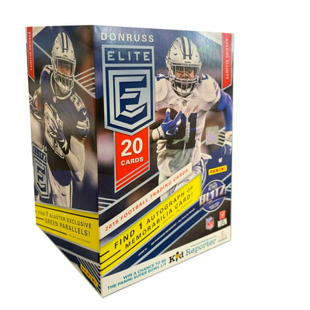 2019 Panini Donruss Elite NFL Football Blaster Box- first cards with NFL photography for 2019 NFL Rookies |20 Cards Per (Selling Football Cards Best Way)