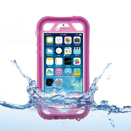 NAZTECH Vault Plus for iPhone 5/5s - Pink (with Fingerprint Reader