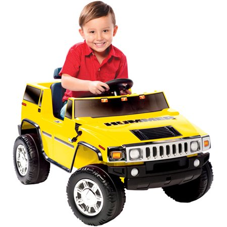 kid motorz hummer h2 6 volt battery powered ride on yellow walmartcom