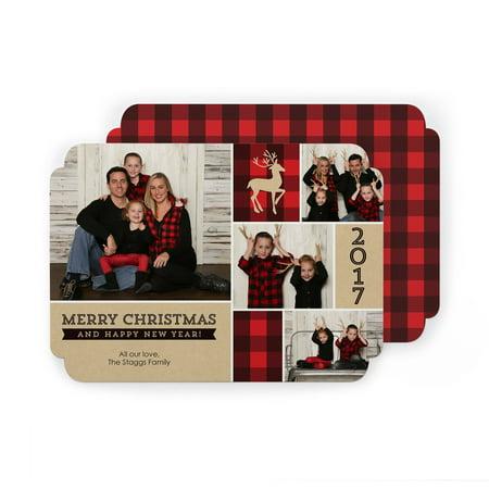 5X7 Premium Elegant Corner Photo Card Stock 110 Lb With Return Address Printing Tier 1