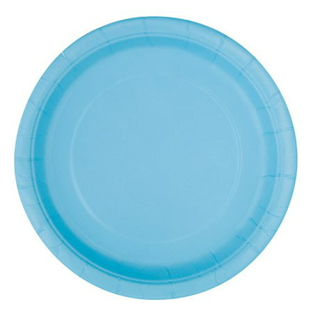Light Blue Paper Dessert Plates, 7in, 50ct - Walmart Halloween Paper Plates