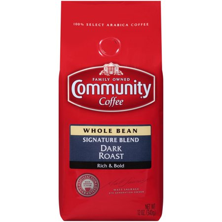 - Community® Coffee Signature Blend Dark Roast Whole Bean Coffee 12 oz. Bag