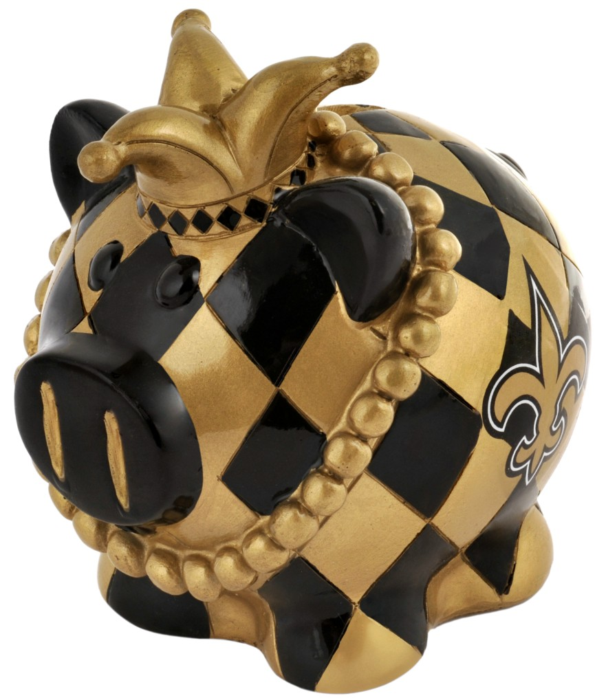 New Orleans Saints Piggy Bank Thematic Large by Forever Collectibles