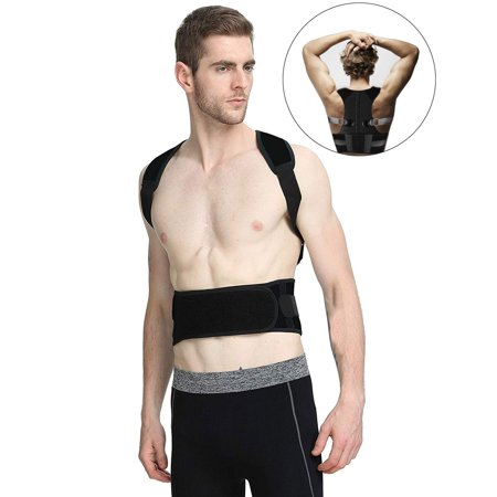 86c40cb8d3a2 Posture Corrector for Men & Women Upper Back Support Brace for Providing  Pain Relief from Neck, Back, Shoulder & Bad Posture XL