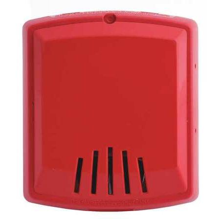 WHEELOCK CN121091 Horn,12/24VDC,Red,5-15/64 in. H ()