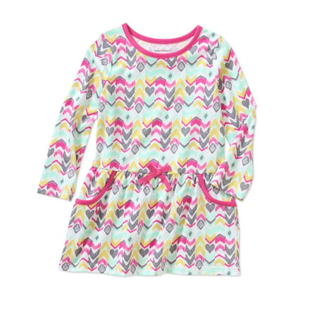 Healthtex baby toddler girl long sleeve knit dress