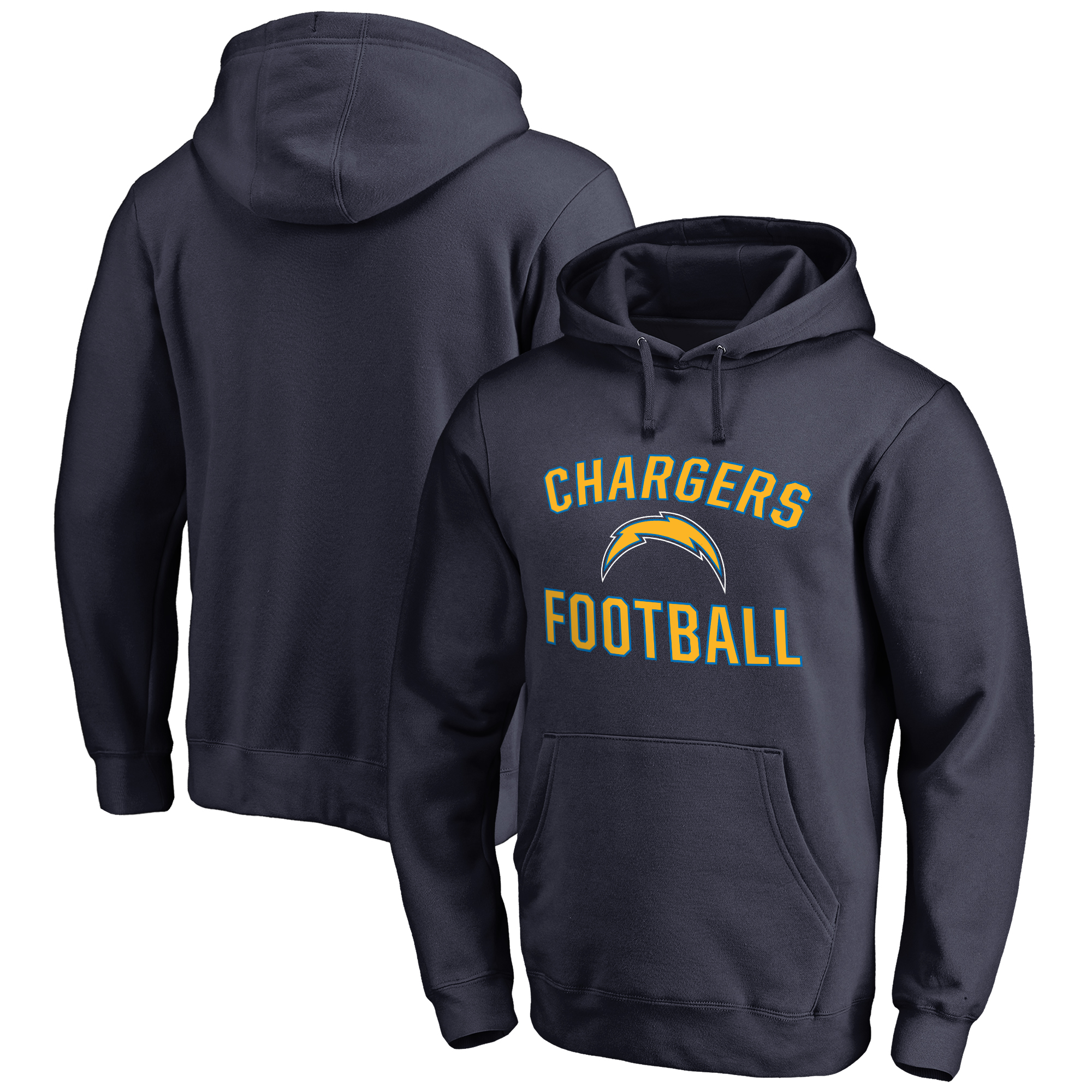 Los Angeles Chargers NFL Pro Line by Fanatics Branded Victory Arch Pullover Hoodie - Navy
