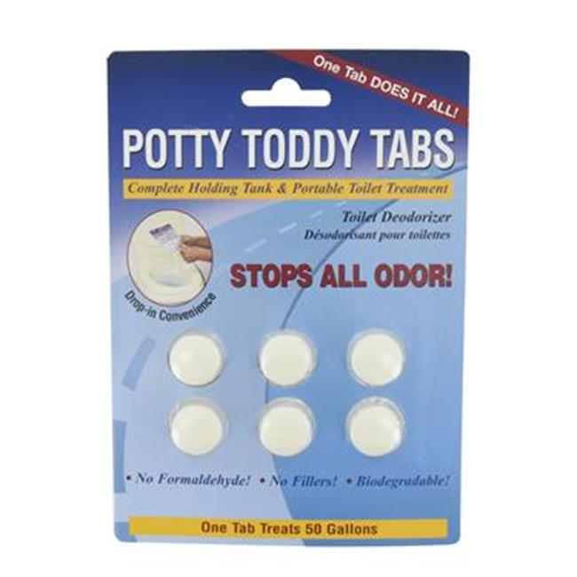 VALTERRA LLC Q5000VP Potty Toddy Holding Tank Treatment, 6 Per Card