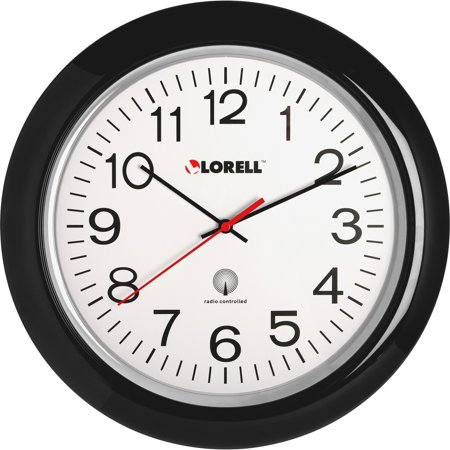Radio Controlled Outdoor Wall Clock (Lorell, LLR60994, 13-1/4