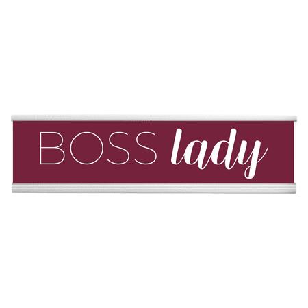 Funny Desk Plate -Boss Lady Engraved Desk Plate! Burgandy/White Funny Name Plate, Funny Name Signs, Name Plate, Custom Name Plate, Desk Name Plate, Office Name Plate, Name Tag, Sign Plate