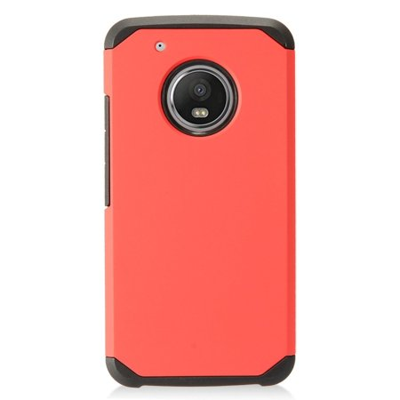 Motorola Moto G5 Plus case, by Insten Dual Layer [Shock Absorbing] Hybrid Hard Snap-in Case Cover For Motorola Moto G5 Plus