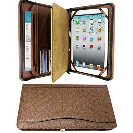 Zipper Binder Business Card Organizer Leather Padfolio Ipad Tablet Sleeve Writing Pad Portfolio Folder Interview Conference