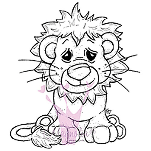 "Tilda and Edwin's Animals Cling Stamp 6.5"" x 3.5"" Package, Lion"