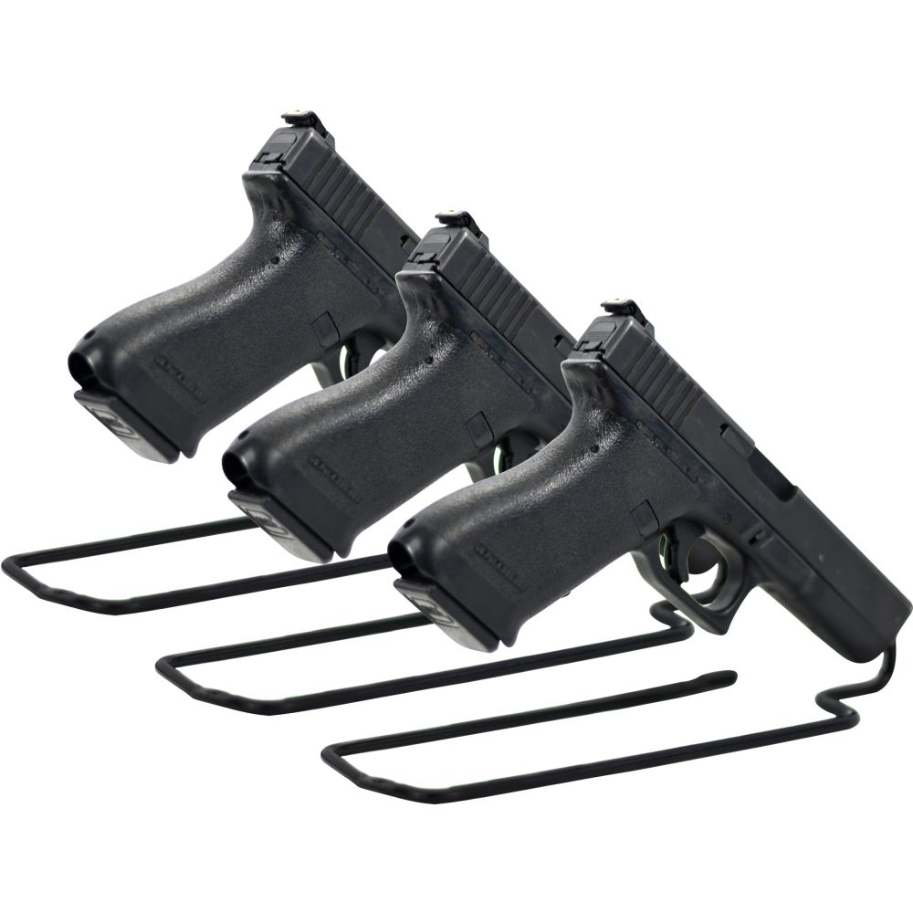Handgun Stand Rack Single Gun Model Pack of 3 - Fits .22 and Up