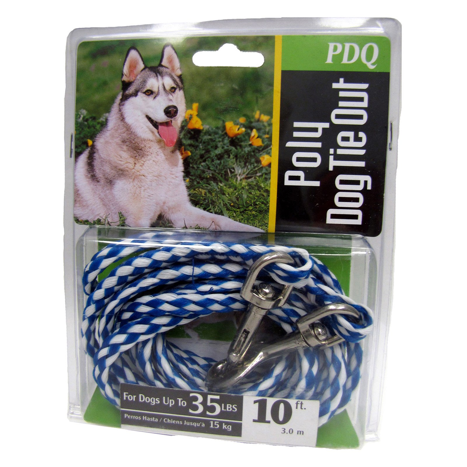 Boss Pet Q2410 000 99 10' Medium Dog PDQ Rope Tie-Out