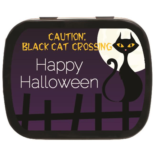 The MintBox PM-BLK31298 Black Cat Crossing Mint Tins  24 Pack