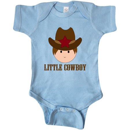 Inktastic Little Cowboy Baby Boy Infant Creeper Western Star Cute Boys Sheriff