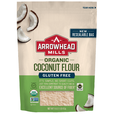 (2 Pack) Arrowhead Mills Organic Gluten-Free Coconut Flour, 16
