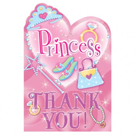 Princess Thank You Notes w/ Envelopes (Princess Note)