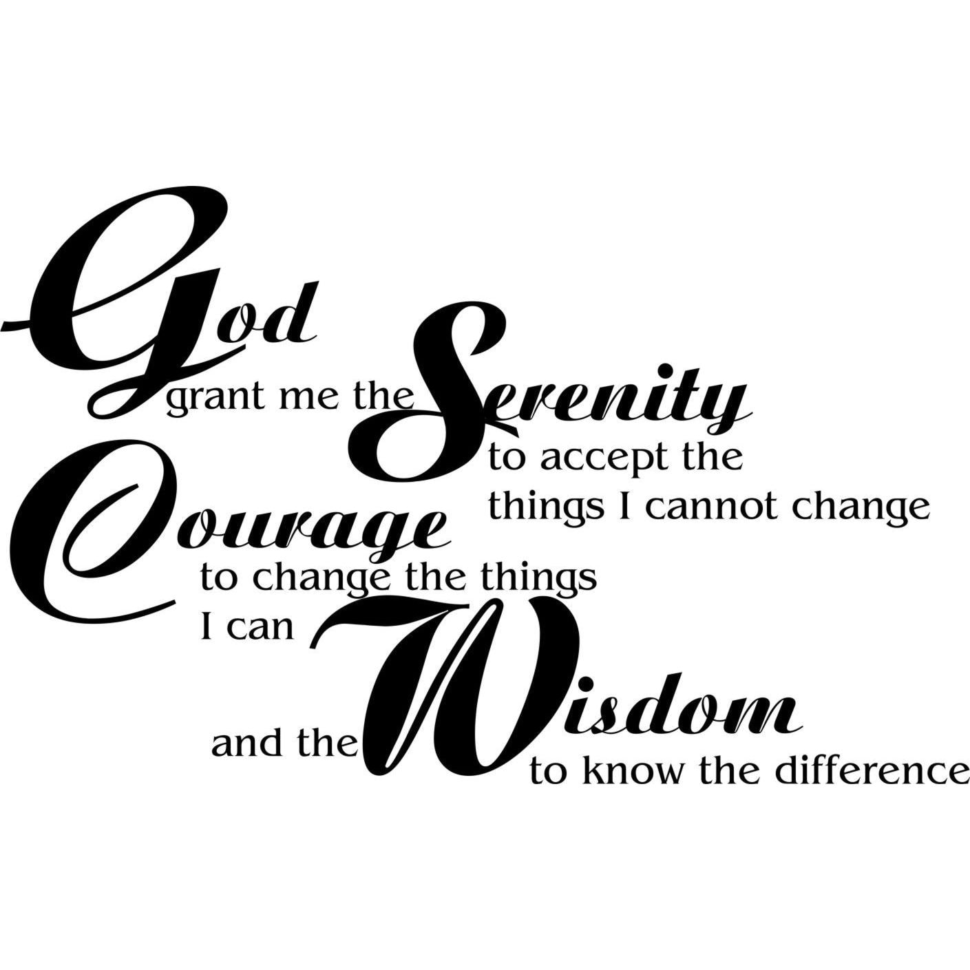 Everything Vinyl Decor Serenity Prayer Vinyl Wall Art