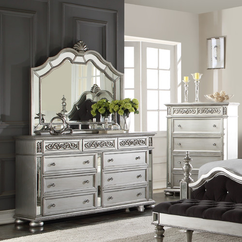 Wildon Home  Kealynn 9 Drawer Dresser with Mirror