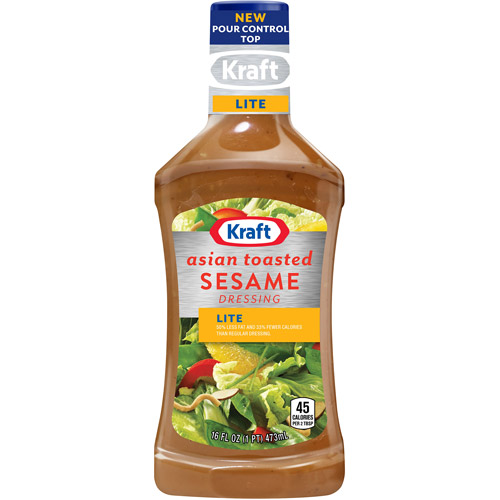 Kraft Salad Dressing: Light Asian Toasted Sesame, 16 Fl Oz