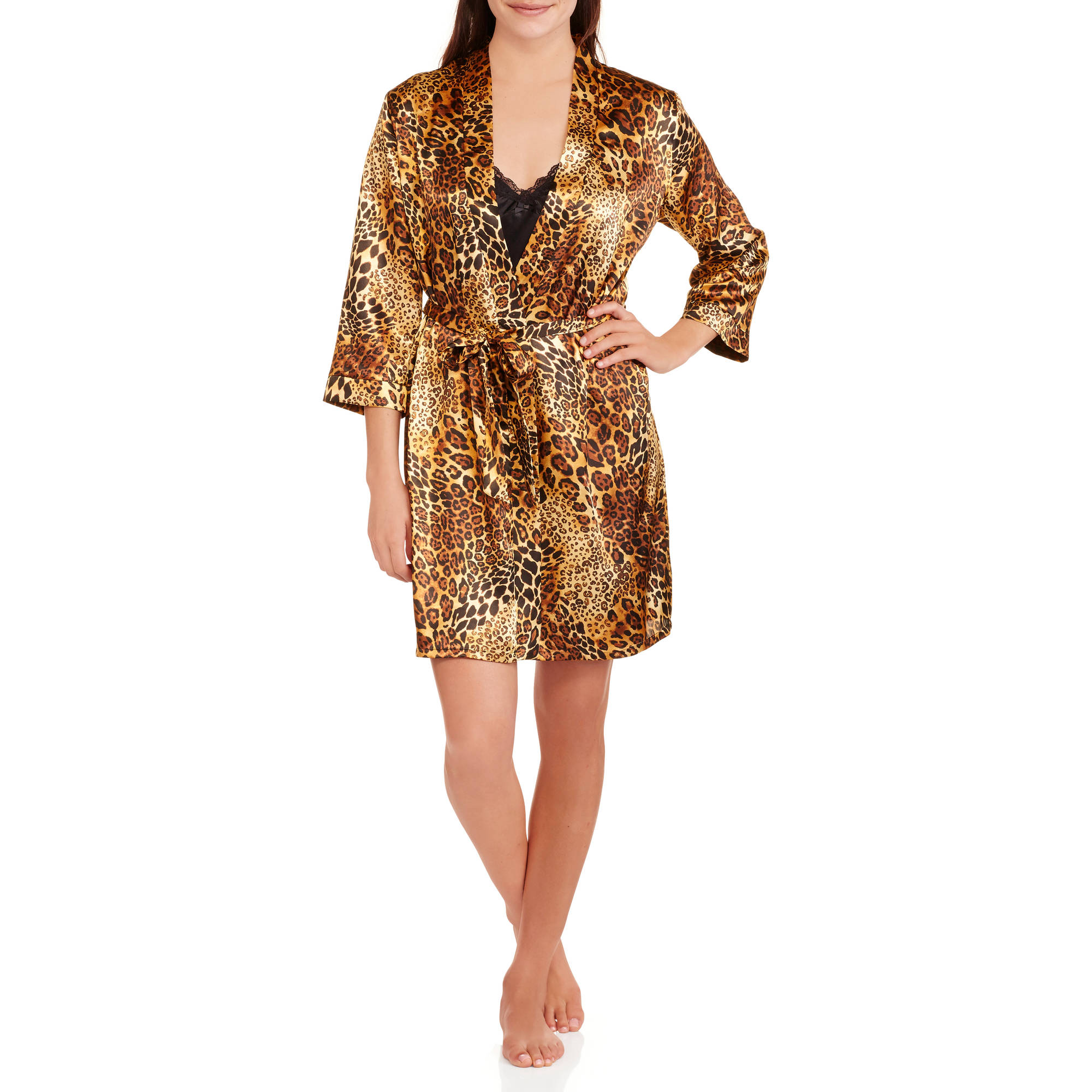 Secret treasures all sleepwear robes womens satin chemise and robe set s 3x price fandeluxe Gallery