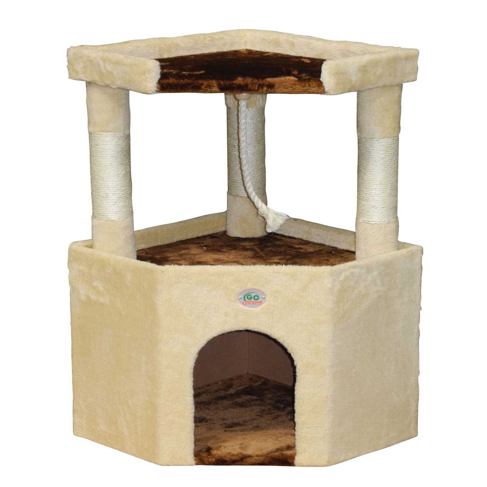 Go Pet Club 32 in. Corner Cat Tree Condo House Furniture