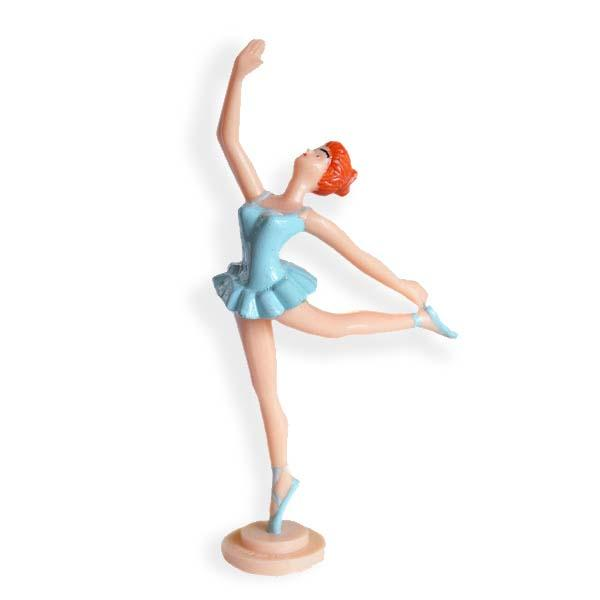 Set of 2 Blue Ballerina Kneeling Cake Topper