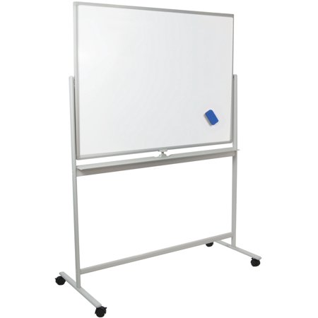 Vivo Mobile Dry Erase Board 48 X 32 Double Sided Magnetic Whiteboard Aluminum Frame Rolling Stand Cart Wb48s