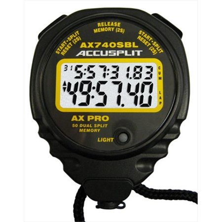 Accusplit AX740 Professional Dual Split Stopwatch with 50 -